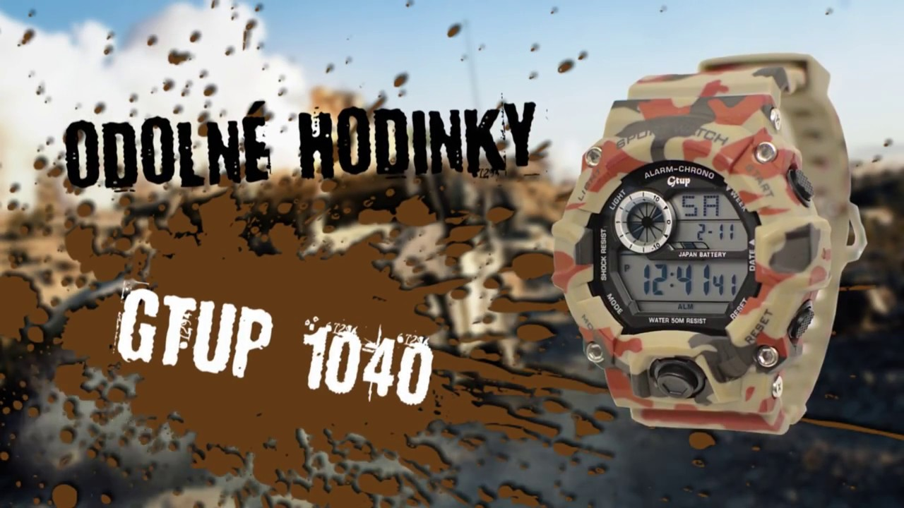 4a498c9b0 • Vojenské hodinky GTUP® 1040 KZ Shock resist | 100 % skladem + dárek |  ESHOPHODINEK.CZ