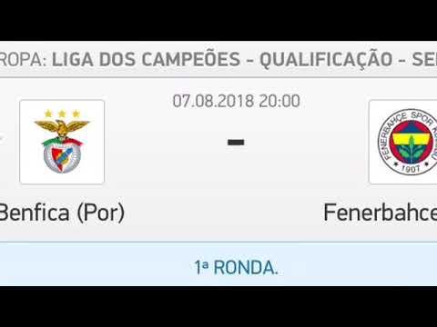 Live jogo do Benfica vs Fenerbahce 07/08/2018