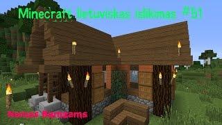 Minecraft 1.8 Islikimas Lietuviskai #51 Namas Bomzams!