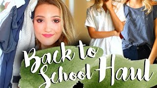 HUGE BACK TO SCHOOL TRY ON CLOTHING HAUL 2016 | American Apparel, Brandy Melville, Madewell, & More!
