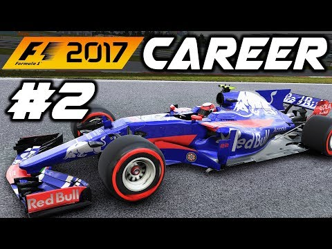 F1 2017 CAREER MODE PART 2: CHINA IN THE WET!