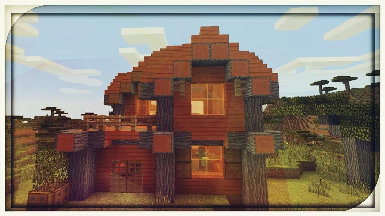 Comment Faire Une Maison En Bois D Acacia Minecraft