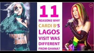 Cardi B Lagos vs Ghana Visit & Sad Reasons Why She Had Different Experience