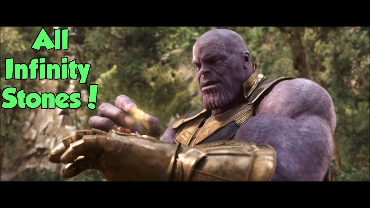 Thanos Collecting The 6 Infinity Stones Avengers Infinity War