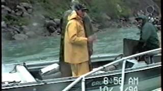 Fighting a King Salmon in Niagara River Whirlpool