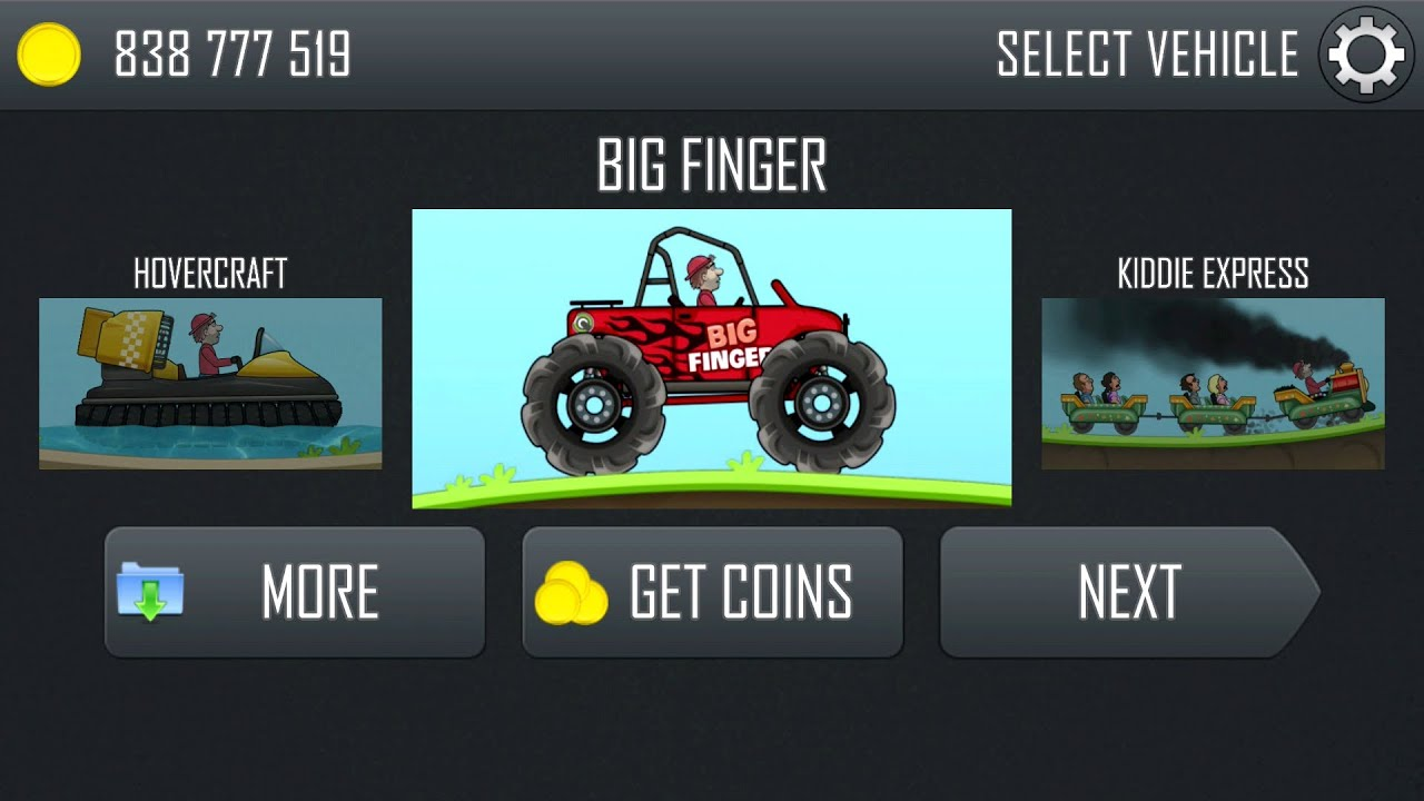 Hill climb racing updated new vehicle big finger and new track construction youtube