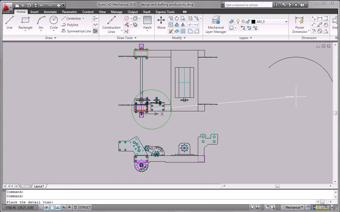 Autocad Mechanical 2010 Design And Drafting Productivity Tools Youtube Process Flow Diagram Dwg