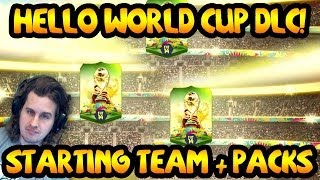 Hello world cup dlc pack opening! fifa 14 ultimate team