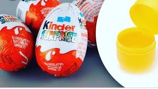 فتح لعبة Kinder surprise مع بنتي فيديو ترفيهي