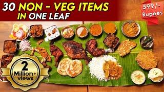 மதுரை மாப்பிள்ளை விருந்து - 30 items in a single Banana Leaf | RASAVID - Semencheri