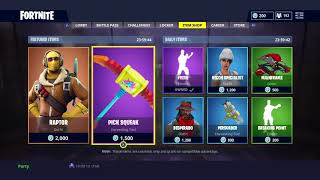 Fortnite Item Shop Reset - 14th June 2018 - Raptor Skin + Pick Squeak Axe