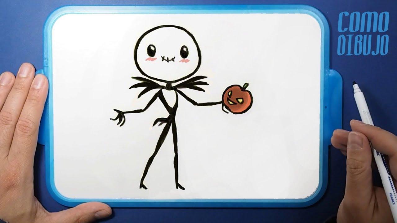Como Dibujar Y Colorear Jack Skeleton Kawaii Paso A Paso