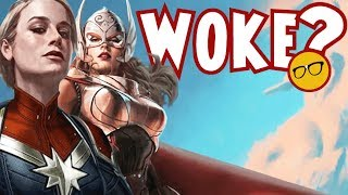 The MCU Going For Woke? Female Thor to Join Captain Marvel?