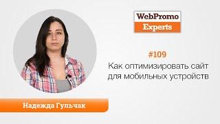 Варианты оптимизации сайта под мобильные устройства. Надежда Гульчак. TV #109