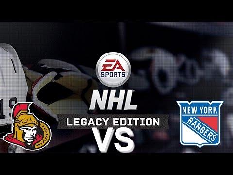 NHL Legacy Edition PS3 Ottawa Senators VS New York Rangers