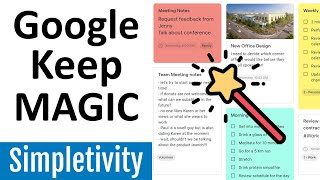 how to use Google Keep