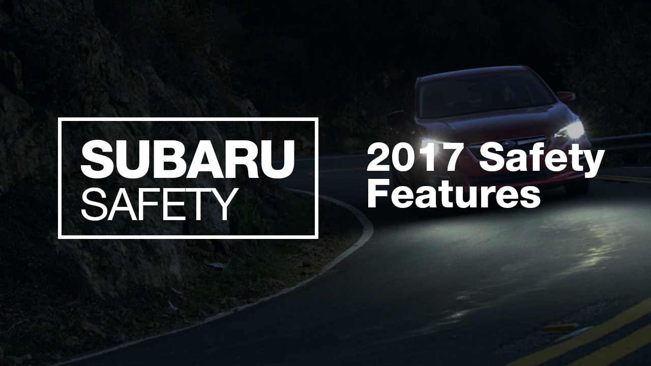 New 2017 Subaru Safety Features Models Only