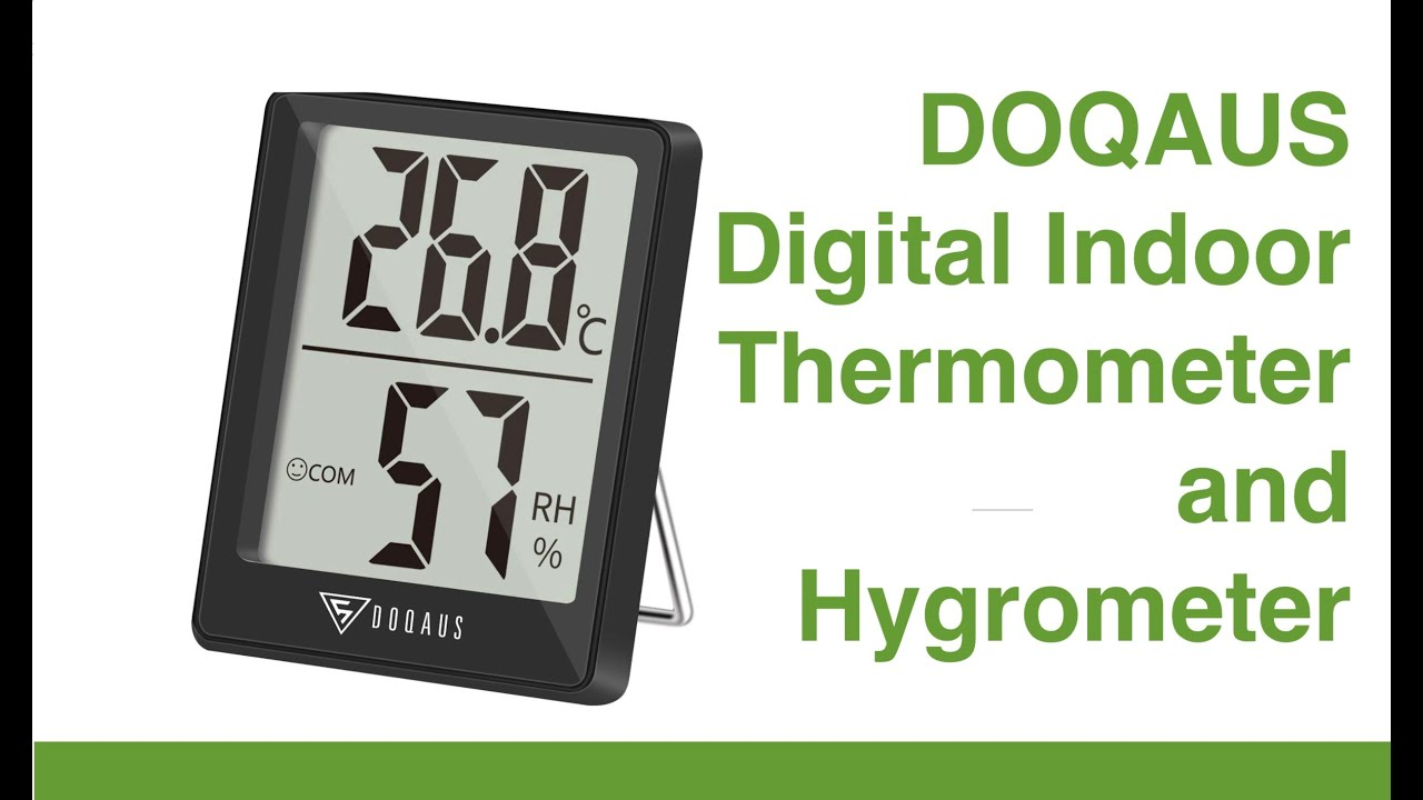 Doqaus Digital Indoor Thermometer And Hygrometer Youtube