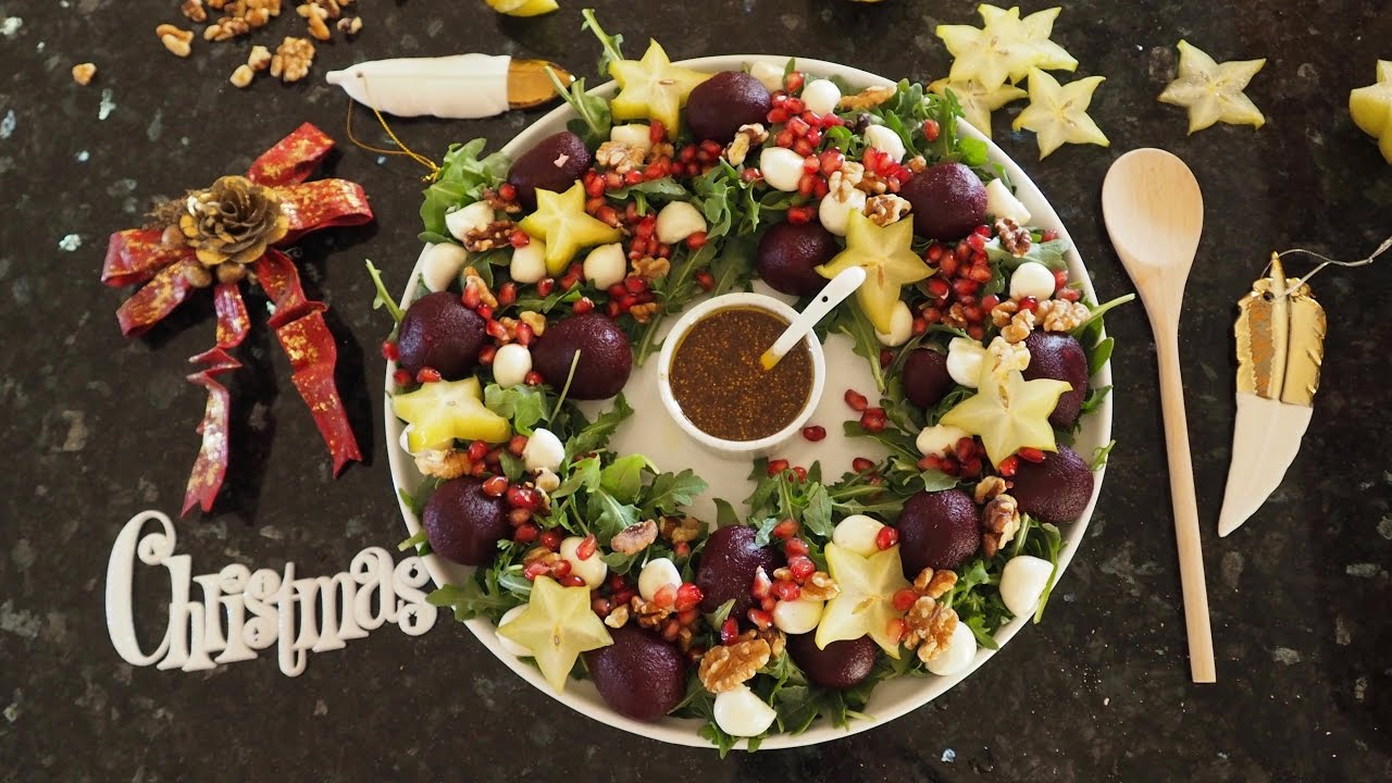 Christmas Wreath Salad Making Friends With Salad Food For Fight