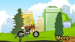 Бесплатные игры онлайн  Губка Боб байкер, Спанч Боб на мотоцикле, гонки, игра для детей