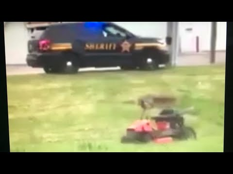 Greatest Prank EVER - Remote Control Lawn Mower - Cops Show Up - Part 1