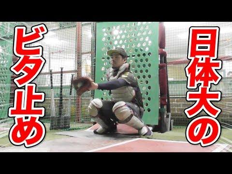 日体大のビタドメ!捕手のミットが1ミリも動かない…史上最高のフレーミング技術!