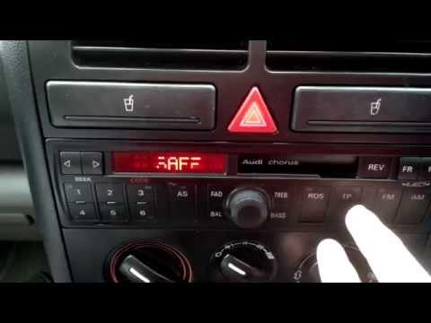 How To Enter Security Code On Audi Gamma Radio Doovi