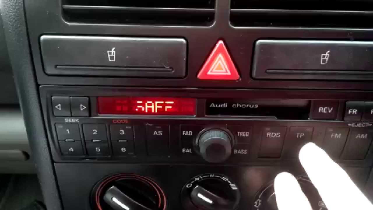 магнитола audi chorus сброс настроек