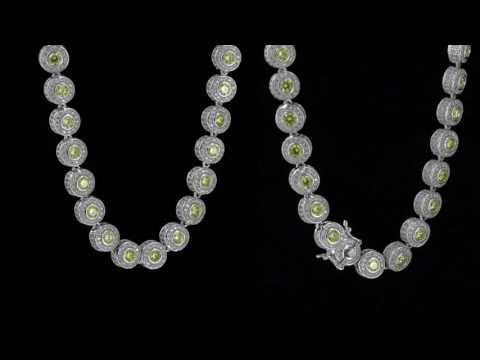 Designer Solitaire Center Stone 2 Tone White Gold Cluster Diamonds Men's Necklace