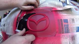 Mazda 3 Logo Red and Black PlastiDip