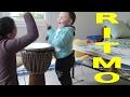 Chiara e Ilario suonano il tamburo - Scuola di ritmo - Video divertente per bambini