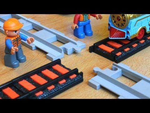 Машинки мультики про Паровозики - Мультфильм про машинки игрушки и поезда: Перекресток