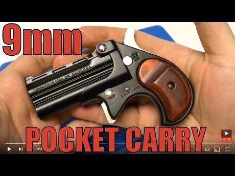 Cobra CB9 Big Bore Derringer 9mm Double Barrel Pocket Carry Backup Pistol