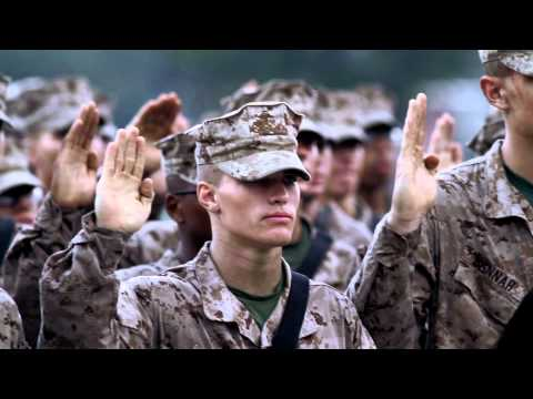 Marines Recite The Oath Of Enlistment