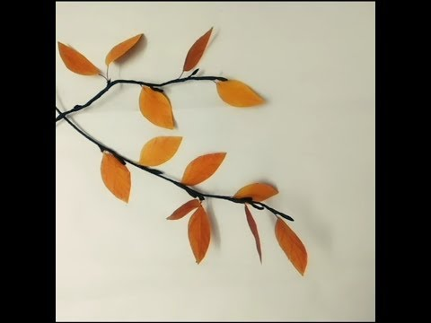 DIY paper crafts: How to make easy 🍂Autumn leaves🍂 from scrap paper...!! 🍂