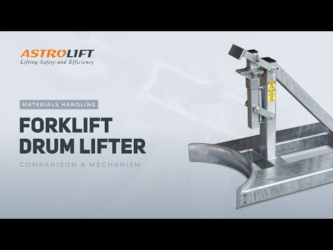 Forklift-mounted Oil Drum Lifter
