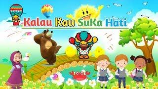 KALAU KAU SUKA HATI versi UPIN IPIN & Marsha and the Bear | Lagu Anak Indonesia Terpopuler