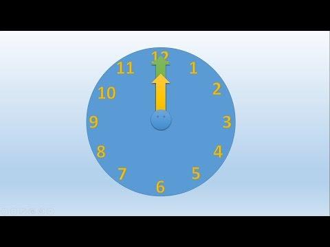Создание анимации Часы
