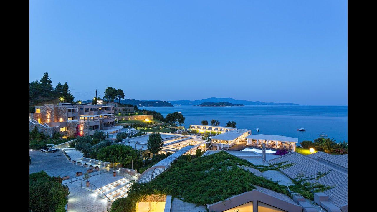 Kassandra bay resort spa skiathos hotel youtube for Hotel skiathos