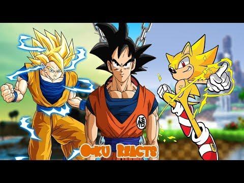 Goku Reacts To Goku Vs Sonic