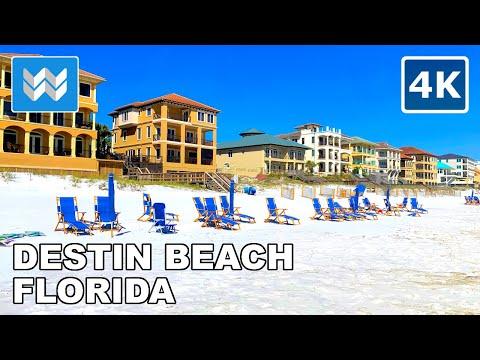 [4K] Destin Beach, Florida USA – 2021 Spring Break Walking Tour & Travel Guide 🎧 Binaural Sound