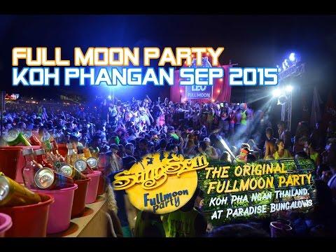 Full Moon Party - Koh Phangan SEP 2015 タイ パンガン島 フルムーンパーティー ハドリンビーチ横断フル映像!