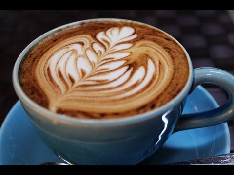 How to make free pour latte art easily on no crema coffee without an espresso machine