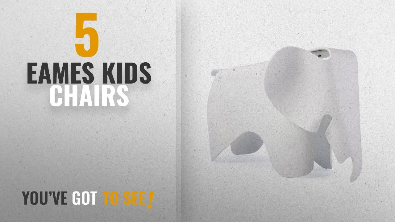 Top 10 Eames Kids Chairs [2018]: Eames Style Elephant Childs Bedroom  Playroom Stool Chair   White