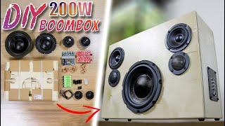 DIY 200W Portable Blueтooth Boombox Speaker Kit Build | Parts Express Blast Box