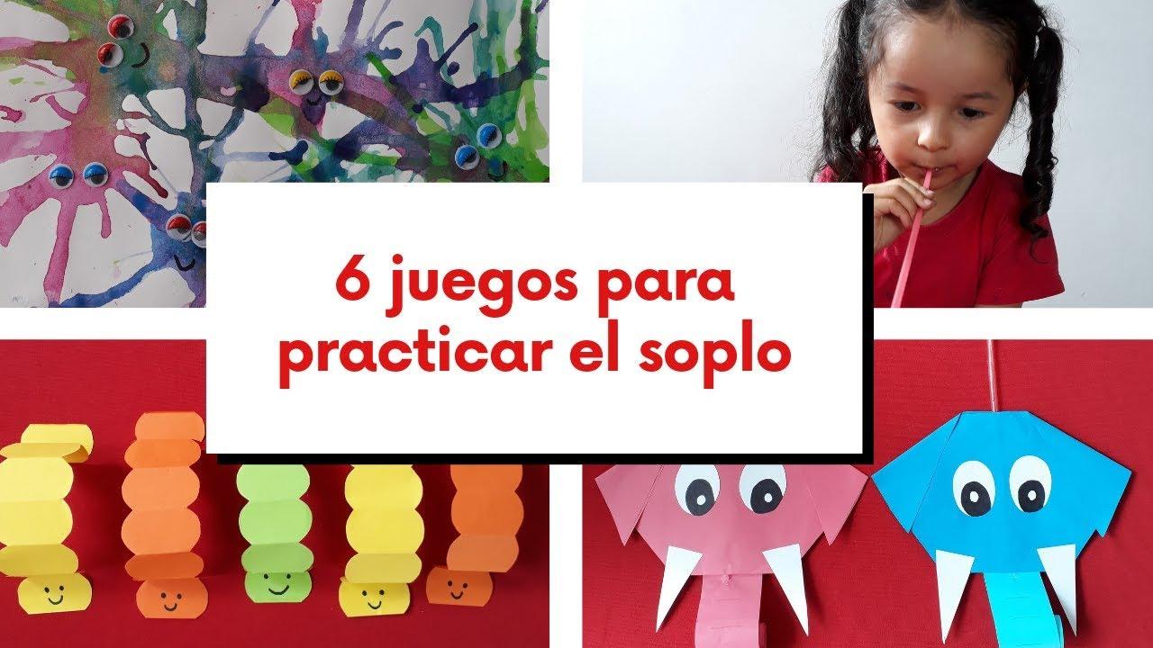 6 Juegos Divertidos Para Trabajar El Soplo Y La Respiración En Los Niños Youtube