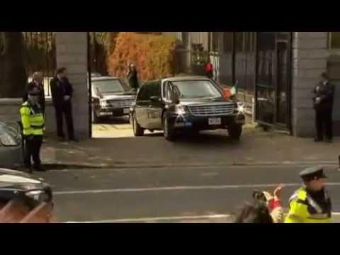 Dublin , Panne : Obamas Limousine Bleibt An Schwelle Hängen   -   Video ..................Oeni