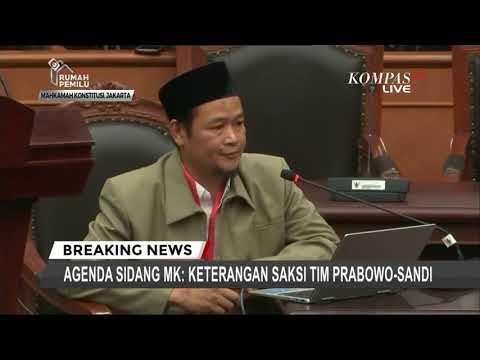 Saat Bersaksi di MK, Saksi Tim Prabowo Mengaku Diancam Dibunuh