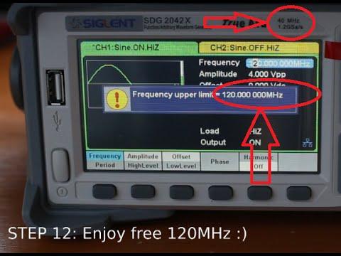 HACKING 40MHz Siglent SDG2042X generator to 120MHz - STEP by STEP tutorial