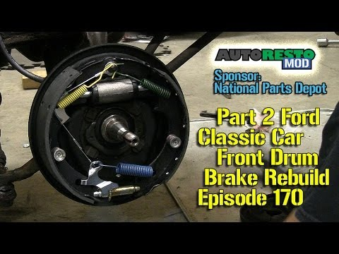 Part 2 Ford Front Drum Brake Diagnosis and Repair Episode